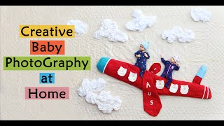 Creative baby photography at home ideas DIY Part 2 | Aarav |