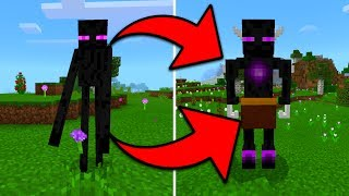NEW ENDERMAN BOSS in Minecraft Pocket Edition (Ender Boss Addon)