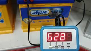 Аккумулятор AKOM EFB 60 560 A (проверка другим тестером)