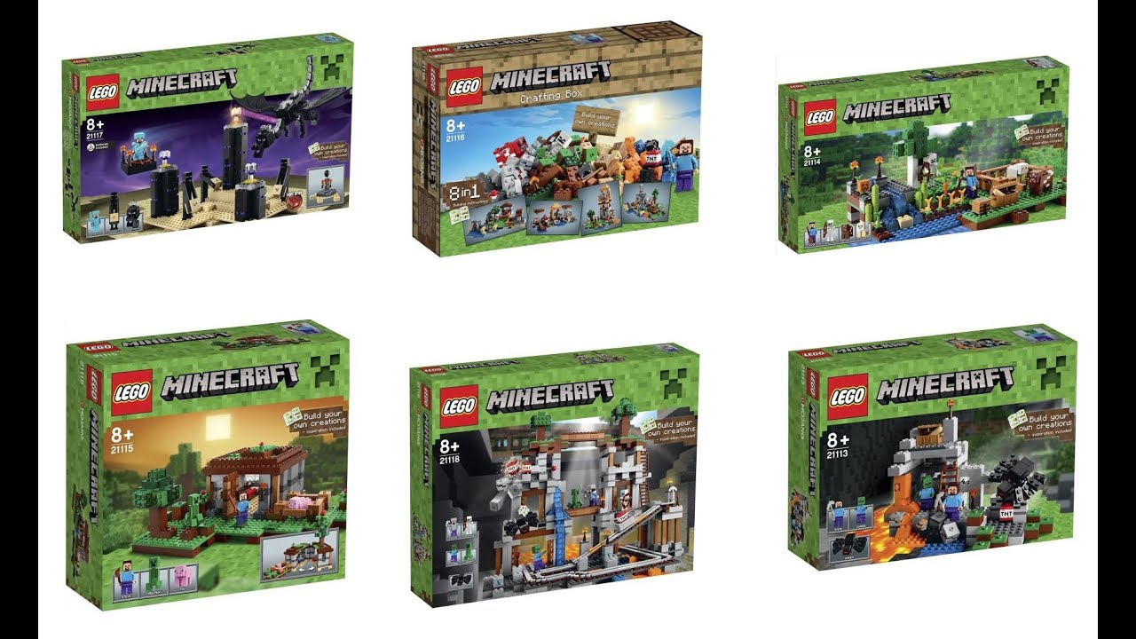 All Lego Toys : Lego minecraft sets box images youtube