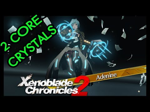 Xenoblade Chronicles 2 - Rare Blade Adenine / Shiki with 2 core crystals !