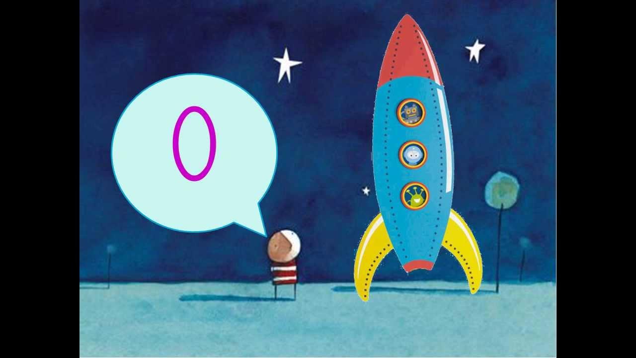 Cohete De Astronauta Y Vintage De Dibujos Animados: Cuenta Atrás Cohete