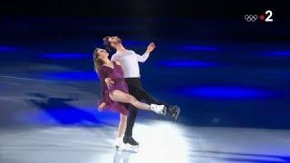 JO 2018 - Les médaillés d'argent représentent la France lors du gala de patinage à PyeongChang