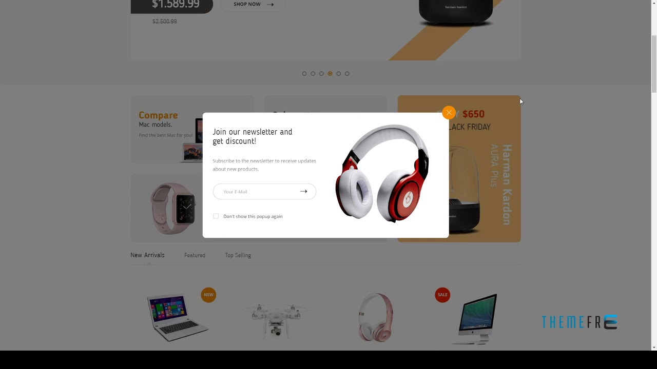 Techno Store - Electronic eCommerce HTML Template | Free Templ - YouTube