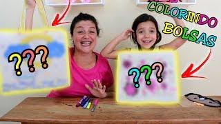 DESAFIO COLORINDO COM 3 CORES / Qual pintura vai ficar mais bonita ??  - Anny e Eu