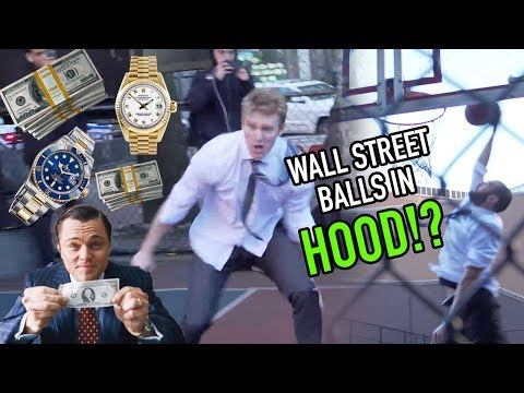 """Wall Street Businessmen Hoop In The HOOD! """"Who The F$%K Are They!?"""" 😱"""