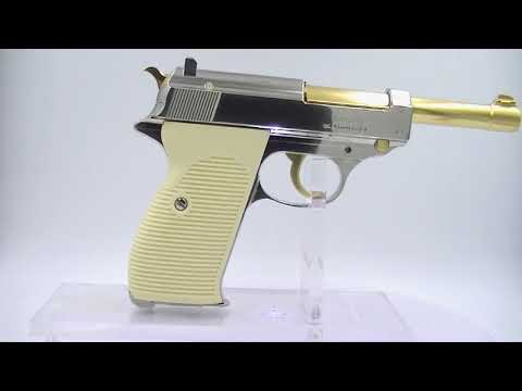 The NEW Walther P38 Gold and Nickel Co2 Pistol by Umarex