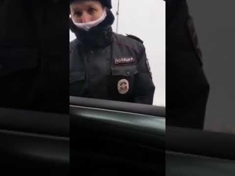 Водителя остановили за нарушение самоизоляции. Водитель напомнил, что в России не введен режим ЧС.