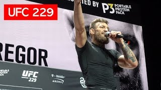 CONOR MCGREGOR UFC 229 OPEN WORKOUT - PROMISES TO KO KHABIB