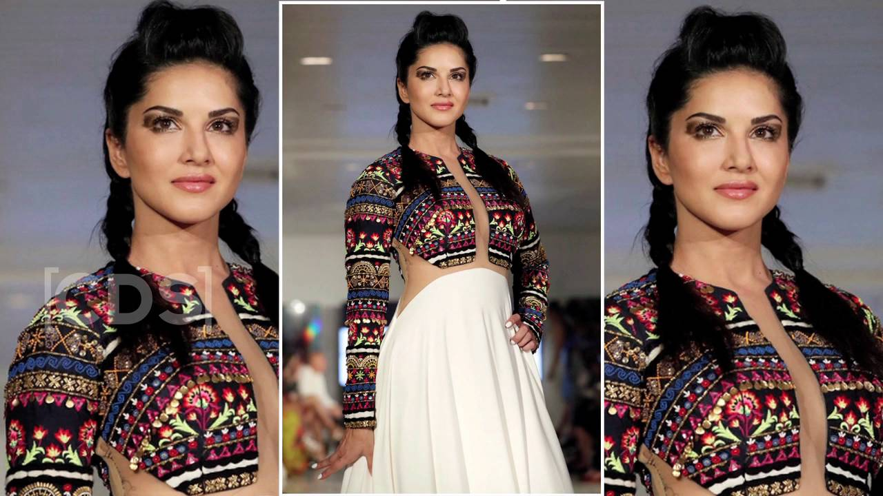 hot sunny leone ramp walk at new york fashion week 2016 - youtube