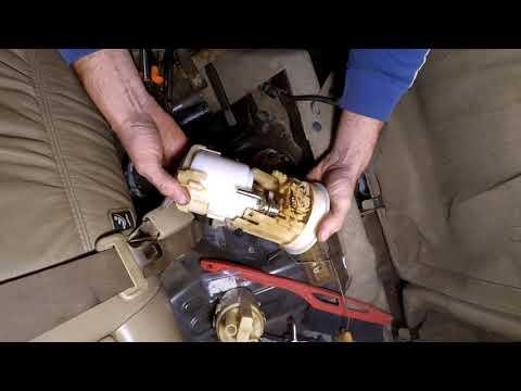 Замена топливного фильтра Nissan X-Trail  T30