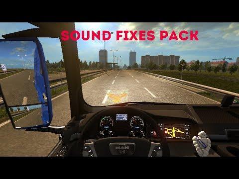 Euro Truck Simulator 2 Обзор мода (Sound Fixes Pack) Очень полезный