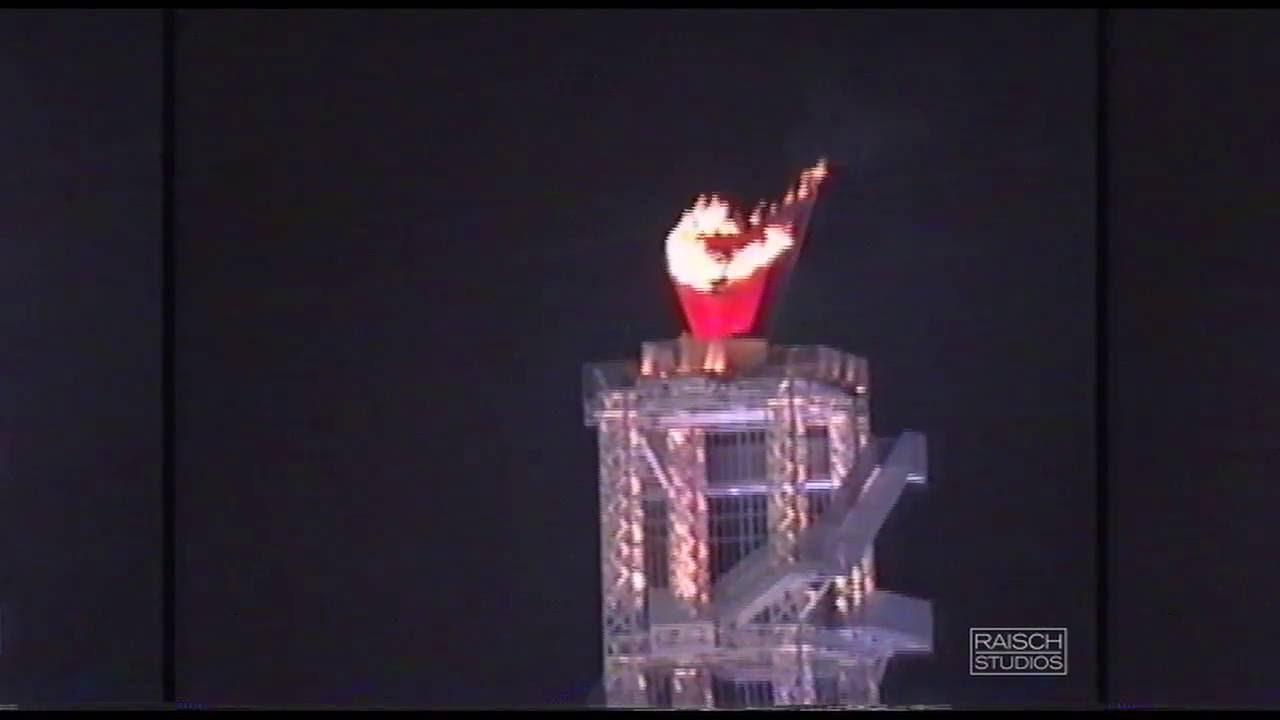 1996 atlanta olympics torch lighting youtube