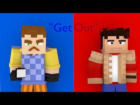 ''Get Out'' Hello Neighbor minecraft animation [Teaser]