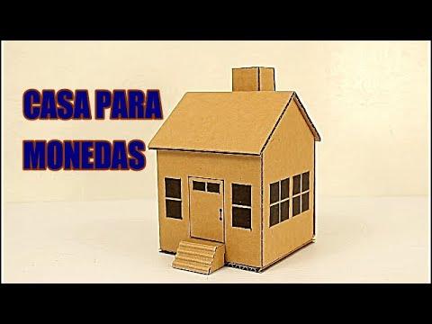 como hacer una casa de cartn para monedas cardboard