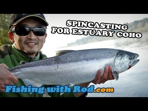 HOW TO SPINCAST FOR ESTUARY COHO SALMON | Fishing With Rod