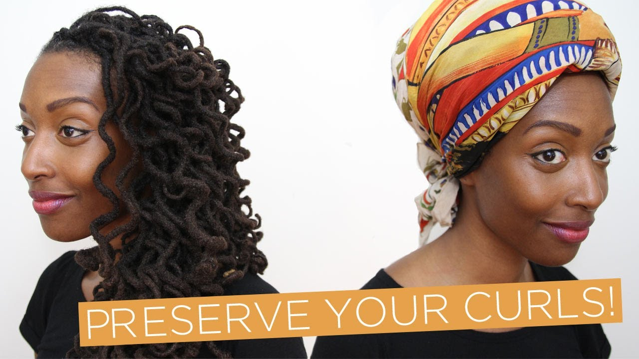 Loc Hairstyle Tutorial: Preserve your curls! - YouTube