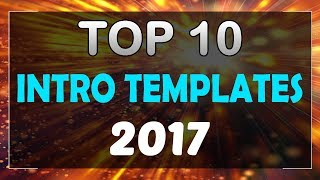 Top 10 Intro Templates 2017 After Effects CC CS6 Free Download + No Plugins