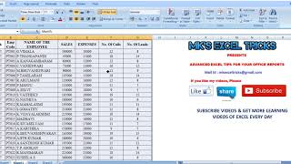 EXCEL TIPS IN TAMIL : HOW TO USE PIVOT TABLE FOR REPORT PREPARATION