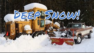 Craziest Snow Storm, Snow Plowing (DEEP SNOW REMOVAL)
