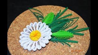 Простые листья в стиле петельчатого квиллинга и на расческе. Quillig hair comb.