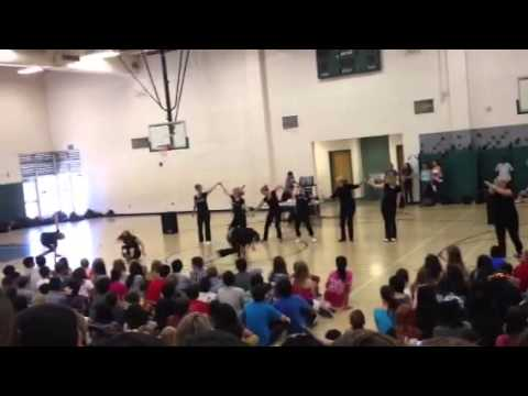 Teachers dance at Oak Valley Middle School