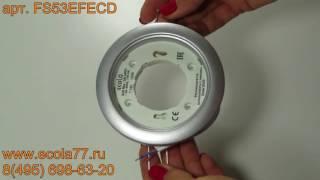 Обзор Ecola GX53 DGX5315 Встраиваемый Легкий Серебро (светильник) 18x100 FS53EFECD
