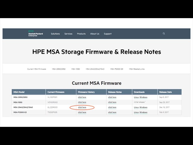 Easily keep your HPE MSA firmware updated - YouTube