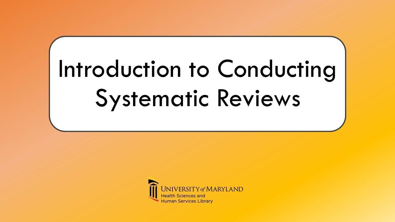 Systematic Reviews Video Thumbnail