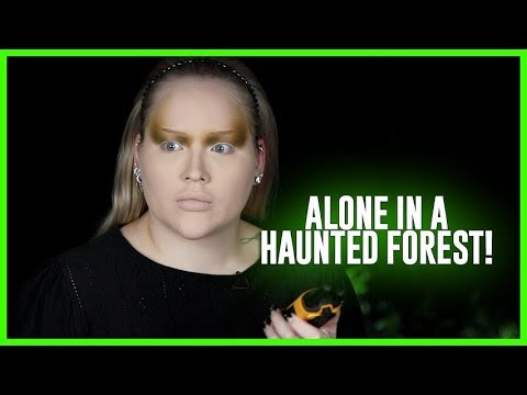 Doing My Makeup, ALONE in a HAUNTED FOREST! | NikkieTutorials thumbnail