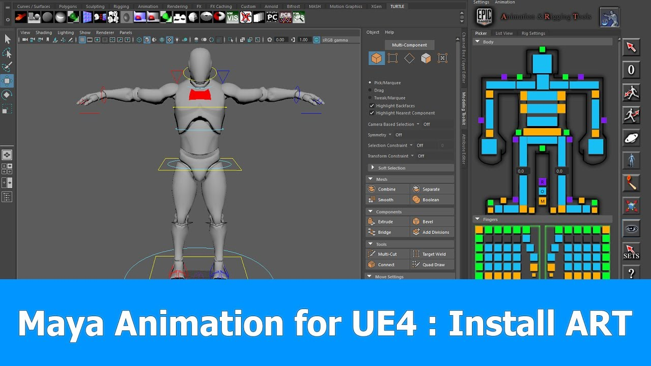 Maya 2017 Animation & Rigging for Unreal Engine : Install ART