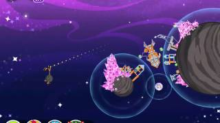Angry Birds Space Level 7-28 Cosmic Crystals 3 Star Walkthrough
