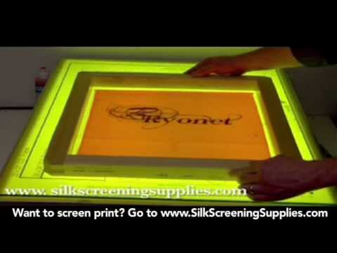 How To Screen Print Pre Registration Template Screen Printing