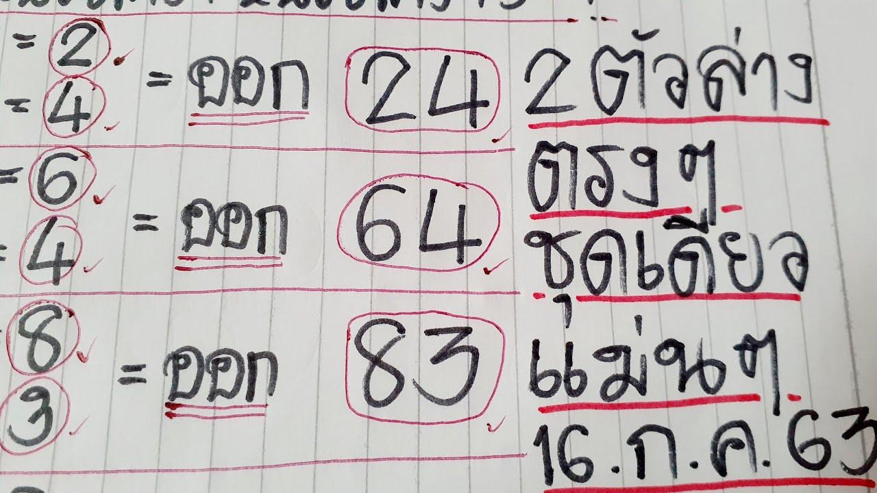 สูตร 2ตัวล่าง(83) ชุดเดียว ตรงๆ ไม่ต้องกลับ แนวทางใหม่ แม่นๆ