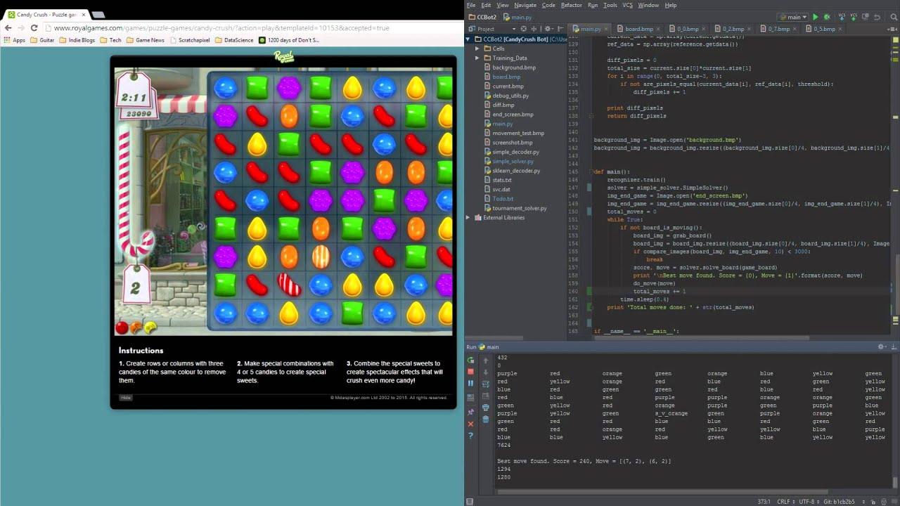 Python bot that plays candy crush youtube python bot that plays candy crush baditri Images
