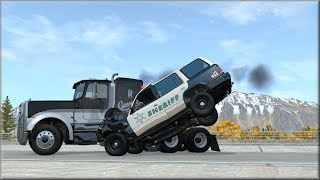 BeamNG Drive Emergency Response Vehicles Vs Reckless Drivers