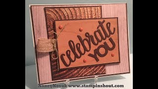 CELEBRATE YOU WOOD TEXTURE CARD