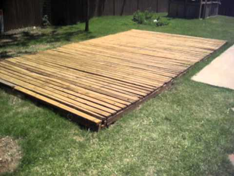 Basketball Court 20' x 13' made from treated reused wood decking