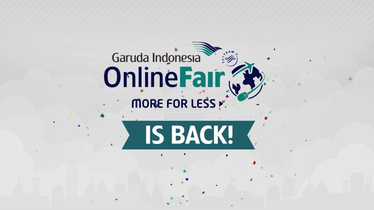 Garuda Indonesia Online Travel Fair 2018 Phase 2 Youtube