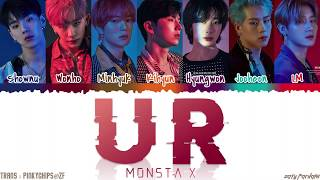 Gambar cover MONSTA X (몬스타엑스) - 'U R' Lyrics [Color Coded_Han_Rom_Eng]