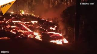 De la lave brûlante continue à couler près du volcan Kilauea