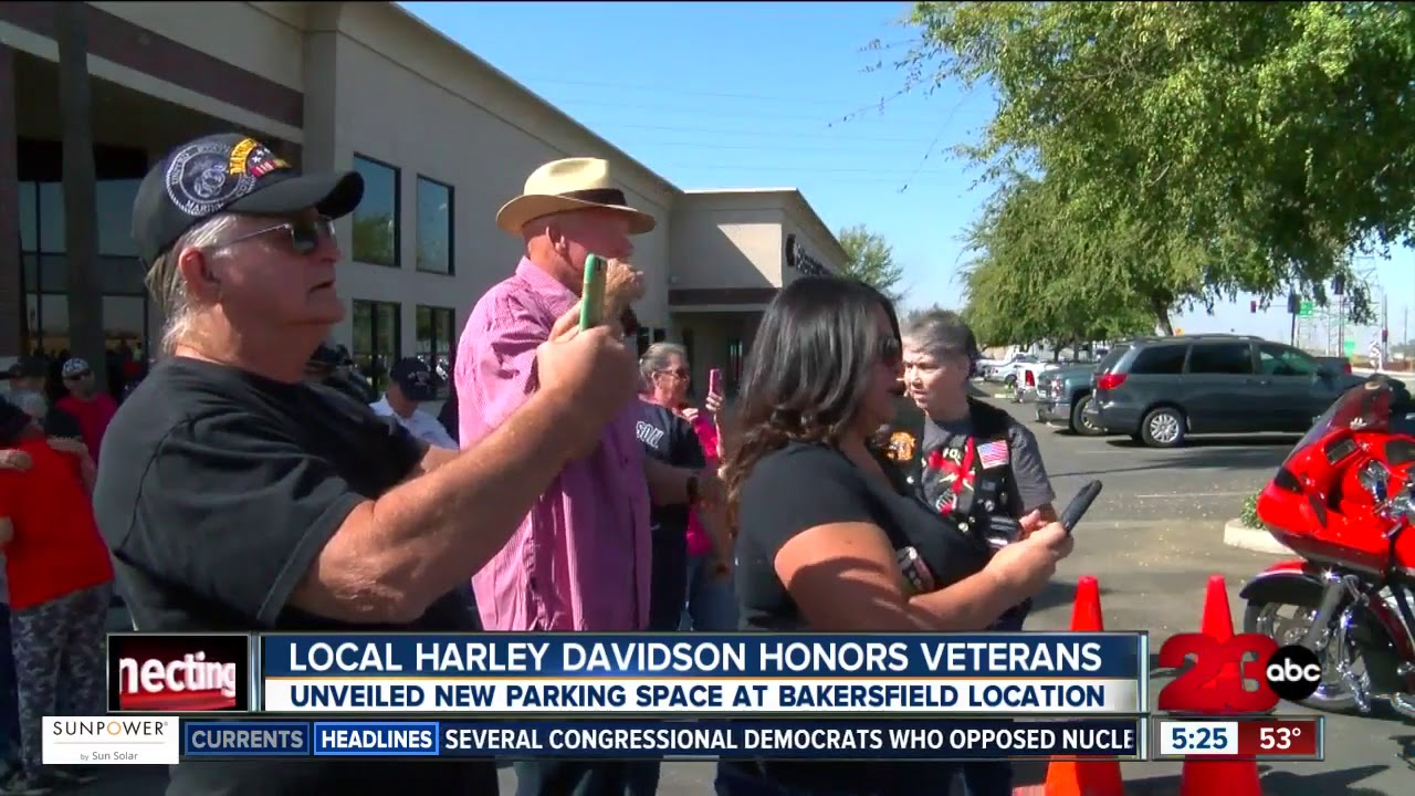 Bakersfield Harley Davidson >> Bakersfield Harley Davidson Dedicates Parking Space To Purple Heart Combat Wounded Veterans