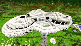 Minecraft Haus: Cooles Redstone Zukunft Haus zum Download!