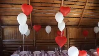 Украшение беседки воздушными шарами на день рождения в кафе