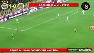 Fenerbahçe 2-0 A.Alanyaspor maç özeti
