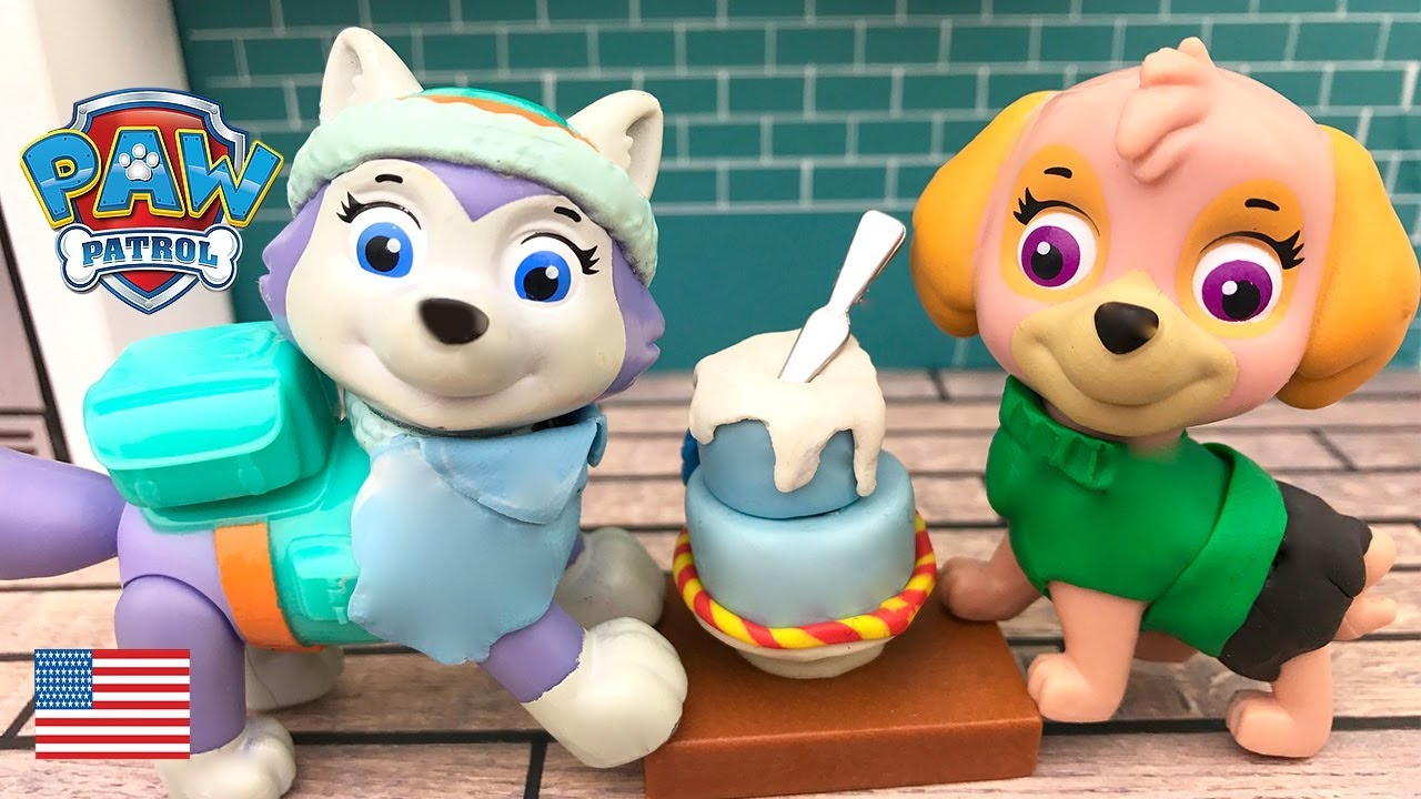 Paw Patrol Full Episodes Skye And Everest Bake A Pokemon Birthday Cake Surprise