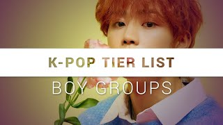 K-pop tier list: boy groups