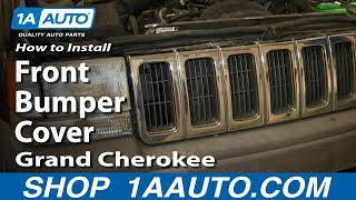 How To Install Remove Front Bumper Cover 1993-98 Jeep Grand Cherokee