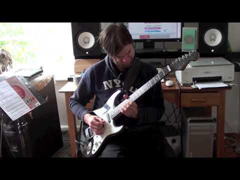 Funk Rock Guitar Solo 5# w/ PDF & TAB transcription