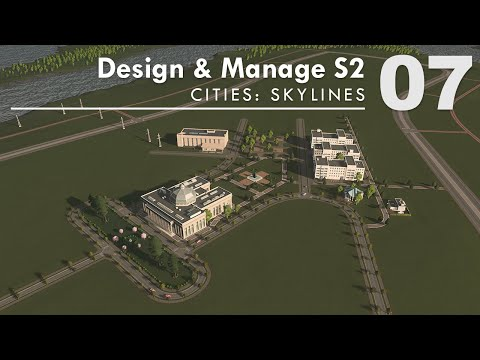 University Campus Layout Planning Tips | Cities: Skylines NO MODS – Design And Manage S2E07